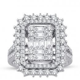 1.76 Carat Diamond Baguette Ring