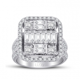2.23 Carat Diamond Baguette Ring