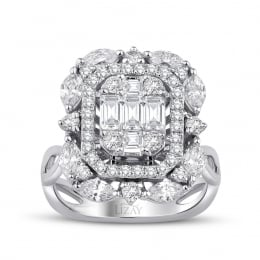 1.66 Carat Diamond Baguette Ring