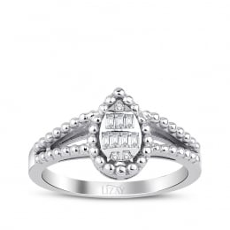0.12 Carat Diamond Baguette Ring