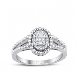 0.16 Carat Diamond Baguette Ring