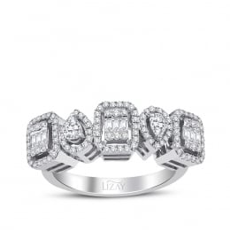 0.61 Carat Diamond Baguette Ring