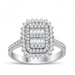 0.72 Carat Diamond Baguette Rings