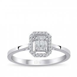0.15 ct. Baguette Ring with Diamond