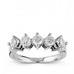 0.95 Carat Five Stone Diamond Ring