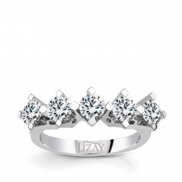 1.54 Carat Five Stone Diamond Ring