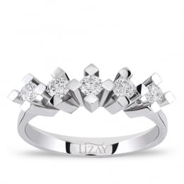 0.30 Carat Five Stone Diamond Ring