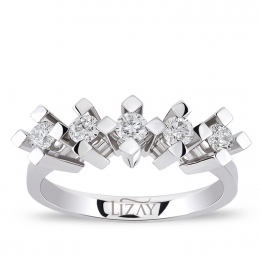 0.40 Carat Five Stone Diamond Ring