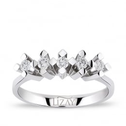 0.20 Carat Five Stone Diamond Ring