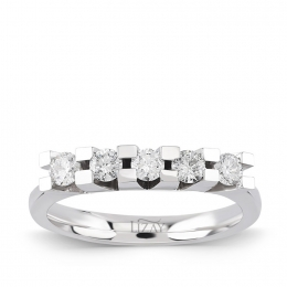 0.45 Carat Five Stone Diamond Ring