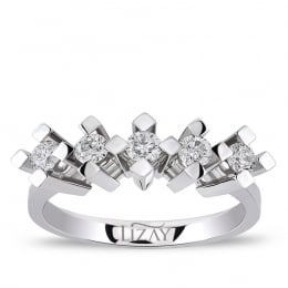 0.70 Carat Five Stone Diamond Ring