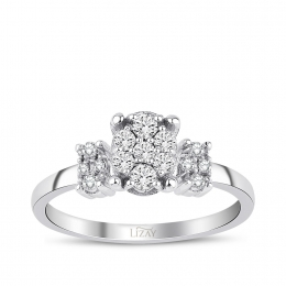 0.26 Carat Diamond Gemstone Ring