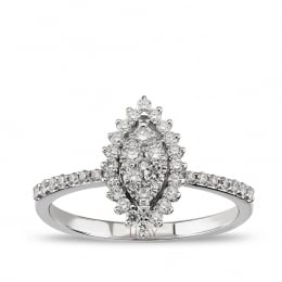0.39 Carat Baguette Diamond Ring