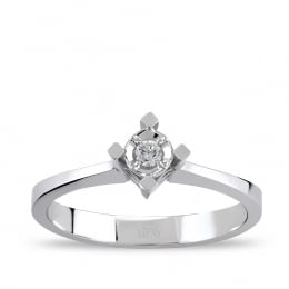 0,04 Solitaire Diamond Ring
