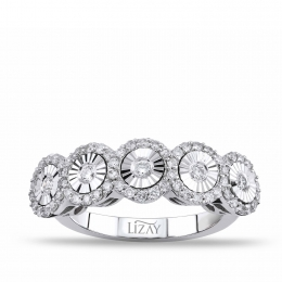 0.55 Carat Five Stone Diamond Ring