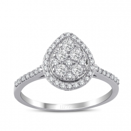 0.40 Carat Diamond Drop Ring