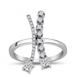 0,36 Carat Diamond Fantasy Ring