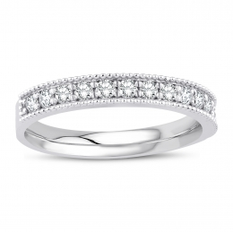 0.38 Carat Diamond Half Ring