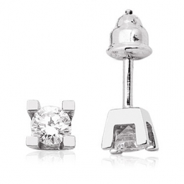 0,29 Carat Solitaire Diamond Earring
