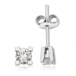 0,18 Carat Solitaire Diamond Earring