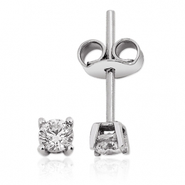 0.35 Carat. Solitaire Diamond Earring