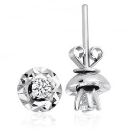 0.18 Carat Diamond Solitaire Earrings