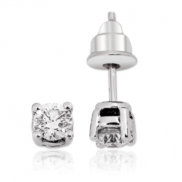 0,60 Carat Solitaire Diamond Earring