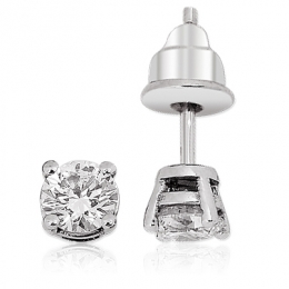 0,84Carat Solitaire Diamond Earring