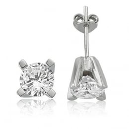 0,50Carat  Solitaire Diamond Earring