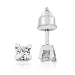 0,26Carat Solitaire Diamond Earring