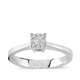 0,08 Carat Diamond Solitaire Effect Ring