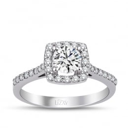 1.1 Carat Diamond Engagement Fancy Ring