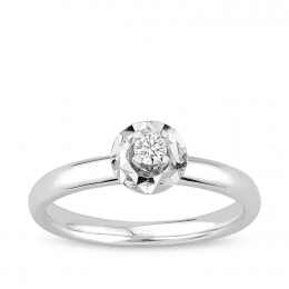 0.09 Carat Diamond Engagement Ring
