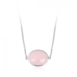 Pink Halo Diamond Pendant