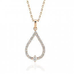 0.21 Carat Rose Diamond Pendant