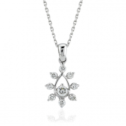 0.24 Carat Diamond Flower Pendant