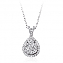 0,37 Carat Diamond Drop Pendant