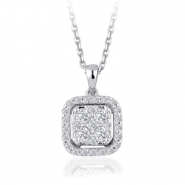 0.39 Carat Diamond Trendy Pendant