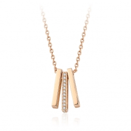 0.14 Carat Diamond Trend Necklace