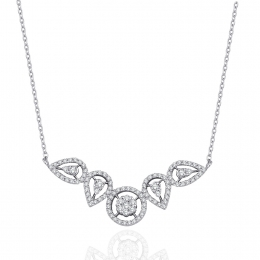 Fancy Necklace With 0.51 Carat Diamonds