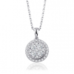 0.38 Carat Diamond Trend Necklace