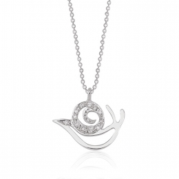Snail Diamond Pendant