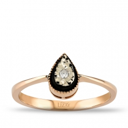 Diamond Drop Trendy Ring