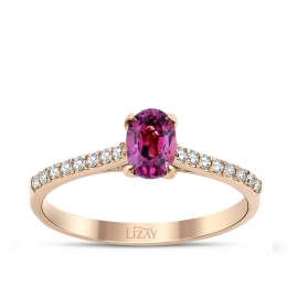 0.80 Carat Diamond Tourmaline Ring