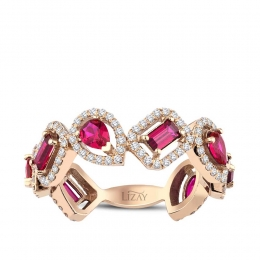 1.72 Carat Diamond Ruby Ring