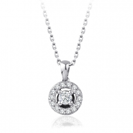 0.19 Carat Diamond Engagement Fancy Necklace