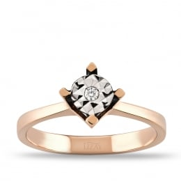 Diamond Solitaire Trendy Ring