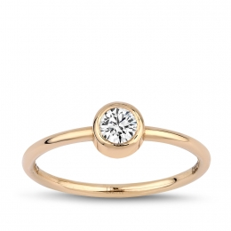 0.26 Carat Diamond Trendy Ring