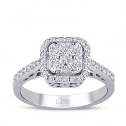 0.58 Carat Diamond Trendy Ring
