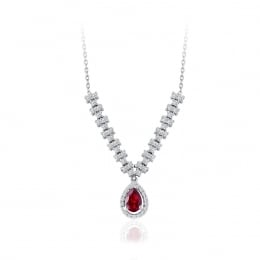 1.11 Carat Diamond Ruby Necklace